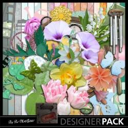 Dites le avec des Fleurs XXL Digital Bundles Scrap'n'Design 11,90€