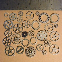 Set of Gears Silver colored Scrap'n'Design Charms and Pendants 4,60€