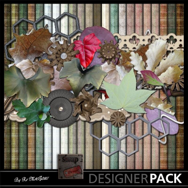 Feuilles 01 Digital Bundles Scrap'n'Design 4,75€
