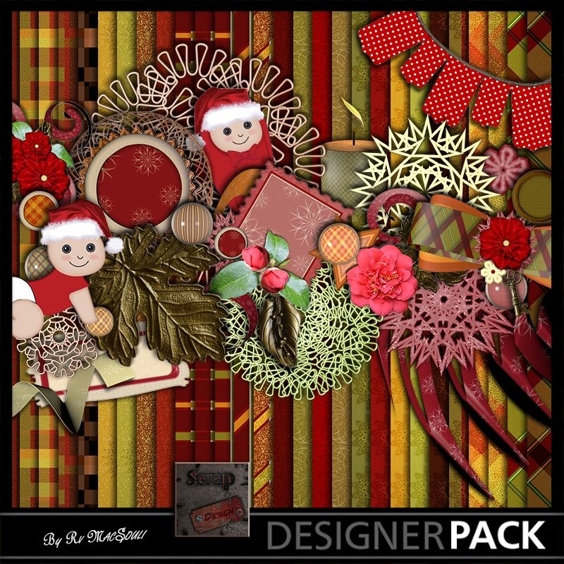 Noël Chéri Digital Bundles Scrap'n'Design 7,50€