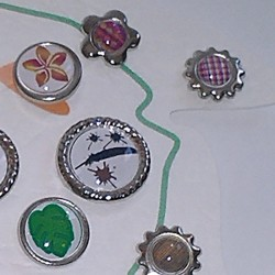 Brads Frog Scrap'n'Design Brads-Buttons 4,50€