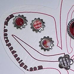 Attaches Parisiennes Fleurs Brads-Bouton Scrap'n'Design 4,50€