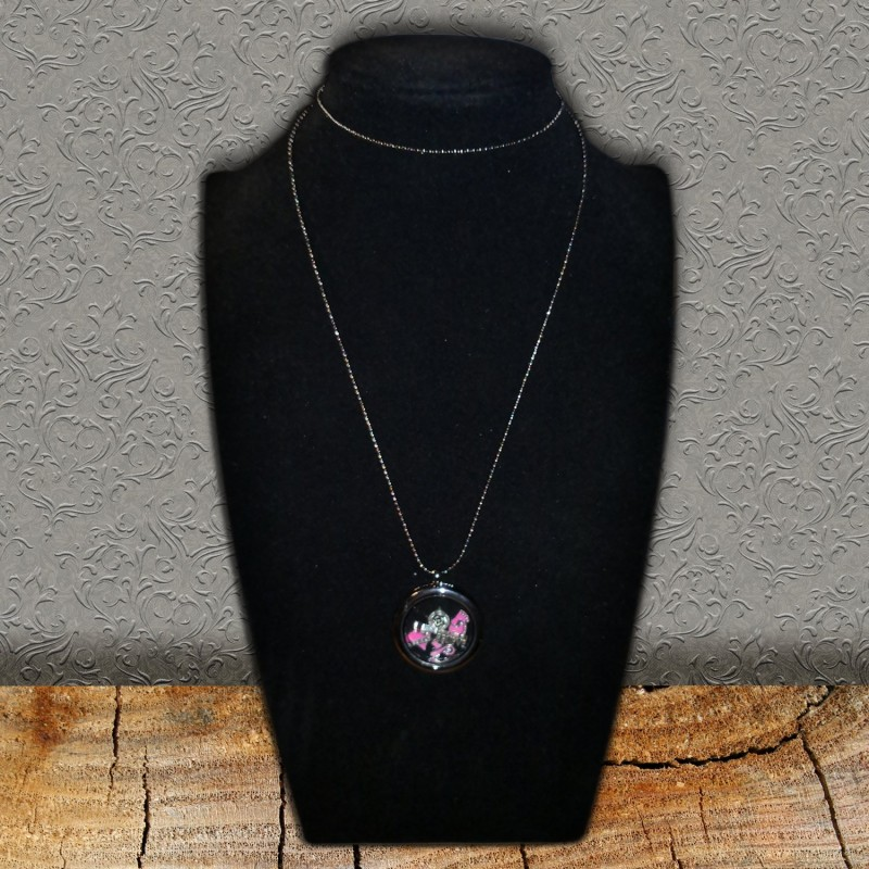 Pink Floating Necklace & Charms Scrap'n'Design Necklaces 14,00 €