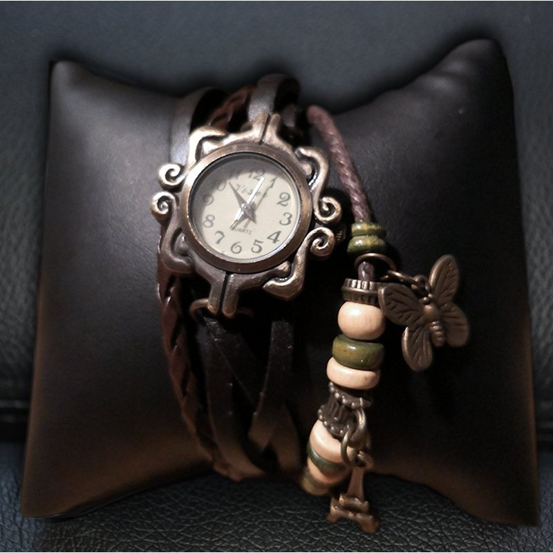 Brown Bracelet Clock Watches & Watches-Pocket 15,00€