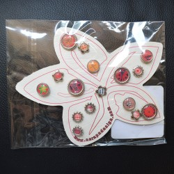 Brads Red Flowers Scrap'n'Design Brads-Buttons 4,50 €