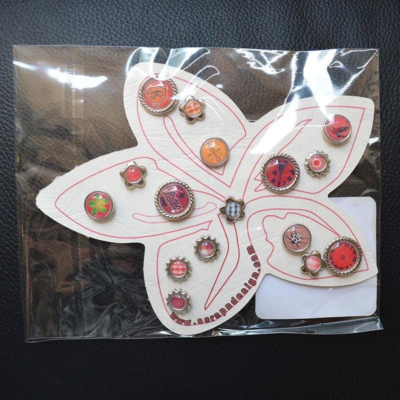 Brads Red Flowers Scrap'n'Design Brads-Buttons 4,50€