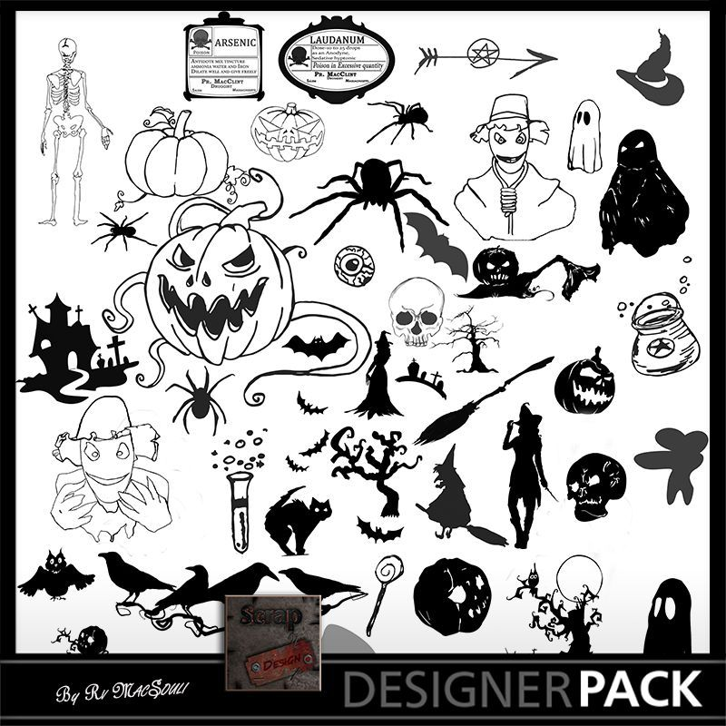 Halloween Photoshop Brushes Scrap'n'Design Psd Brushes 4,99 €