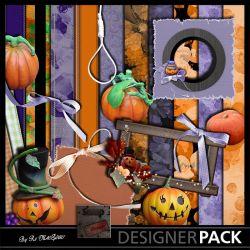 Halloween Orange et Violet Kits Digitaux Scrap'n'Design 1,99€