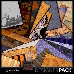 Papiers Halloween Pin Up Kits Papiers Scrap'n'Design 2,49€