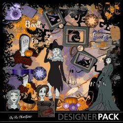 Kit Halloween Pin Up Kits Digitaux Scrap'n'Design 6,99 €