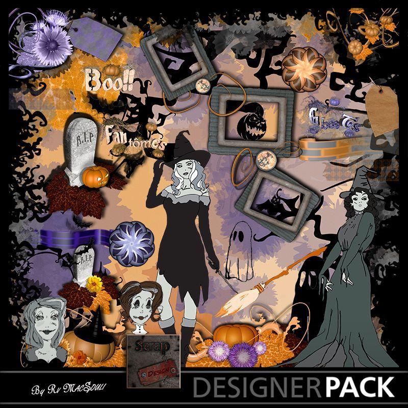 Halloween Pin Up Combo Scrap'n'Design Digital Kits 6,99€
