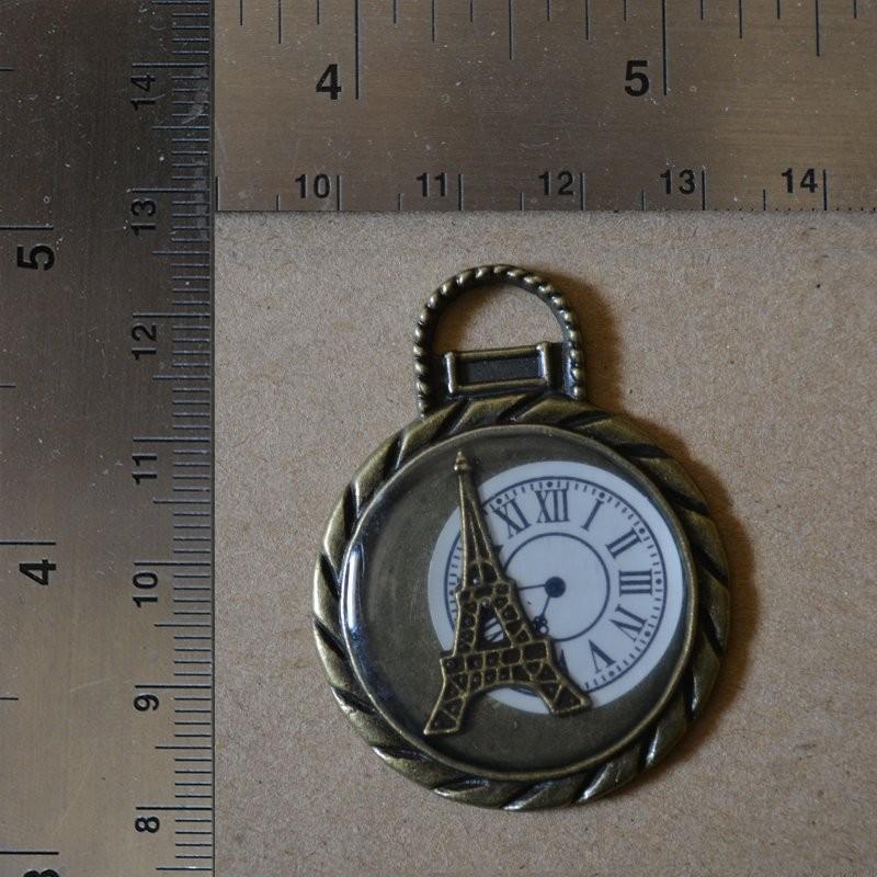 Breloque Horloge Eiffel Pendentifs Charms et Breloques 1,20€