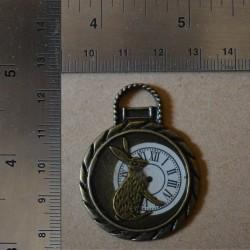 Breloque Horloge Lapin