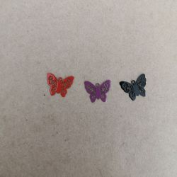 Set of 3 Painted Butterfly Charms Charms and Pendants 2,90 €