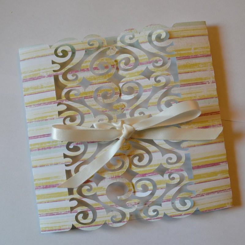 Faire part Mariage simple Carterie Scrap'n'Design 4,90€