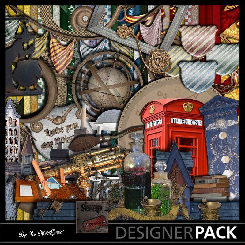 Bundle Avez vous dit sorcier Digital Bundles Scrap'n'Design 10,90€