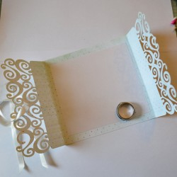 Faire part Mariage simple Carterie Scrap'n'Design 4,90 €