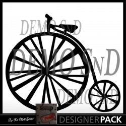 Old bicycle vector cutout