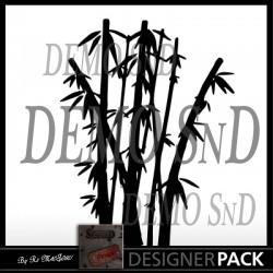Illustration vectorielle Bambou 01 SVG Scrap'n'Design 0,20€