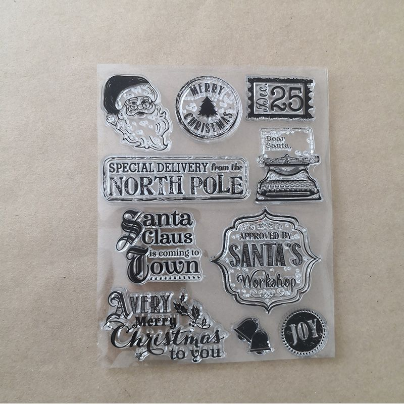 Set of Clear Xmas Stamps Stamps-Inks-Powder 5,90 €