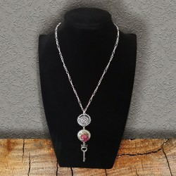 Silver Steampunk Long Necklace Scrap'n'Design Necklaces 18,00 €