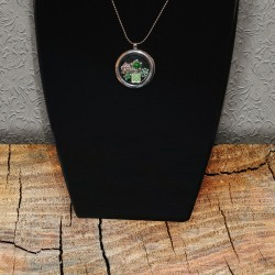 Green Floating Necklace & Charms Scrap'n'Design Necklaces 14,00 €