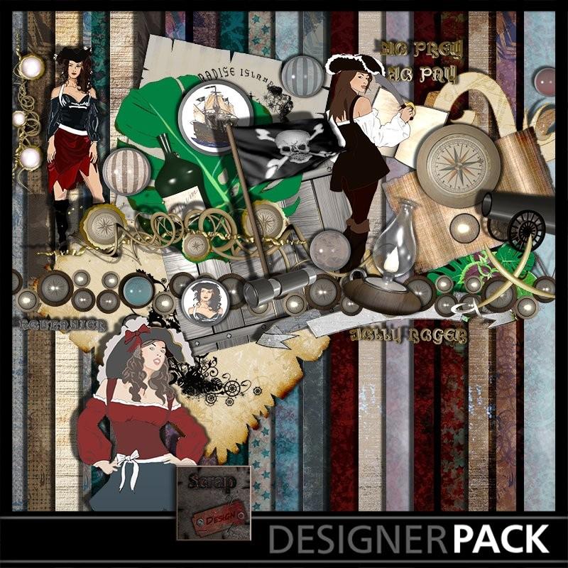 Piraterie Bundle Digital Bundles Scrap'n'Design 6,95€